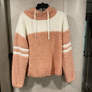 Polyester Soft Fluffy Pullover Jacket Hoodie